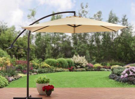 Mainstays 10' Steel Offset Patio Umbrella, Tan - Walmart.com .