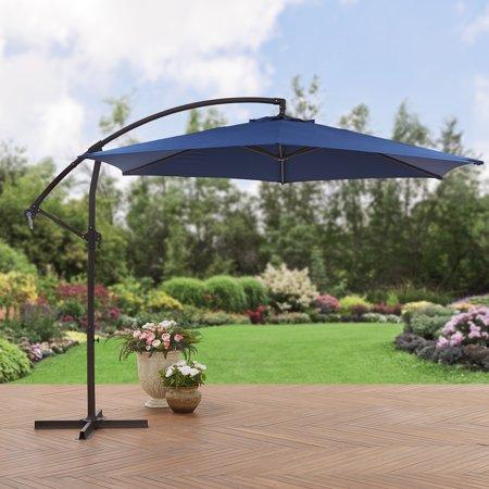 Mainstays 10' Steel Offset Patio Umbrella, Navy - Walmart.com .