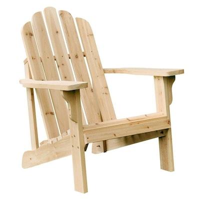 Shine Company Marina Wood Stationary Adirondack Chair(s) with Slat .