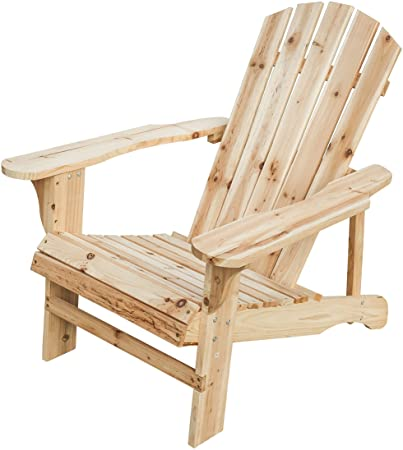 Amazon.com : PatioFestival Wood Adirondack Lounger Chair, Outdoor .