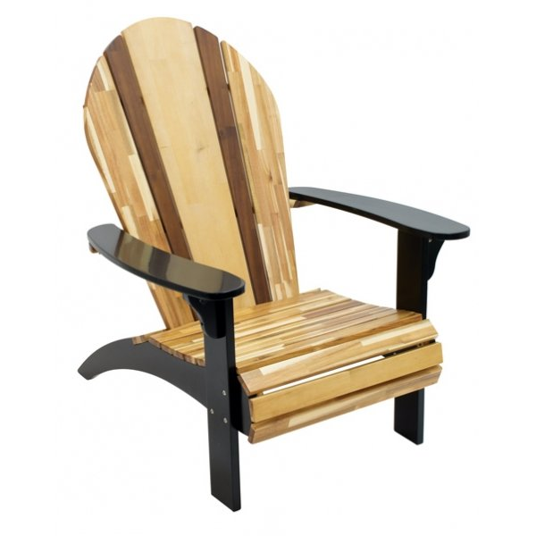 Natural Acadia Wood Adirondack Chair - Woody | RC Willey Furniture .