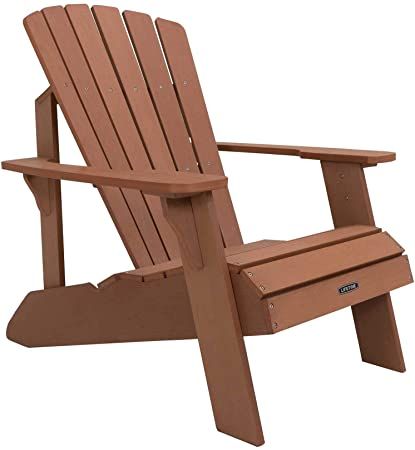 Amazon.com : Lifetime Faux Wood Adirondack Chair, Brown - 60064 .