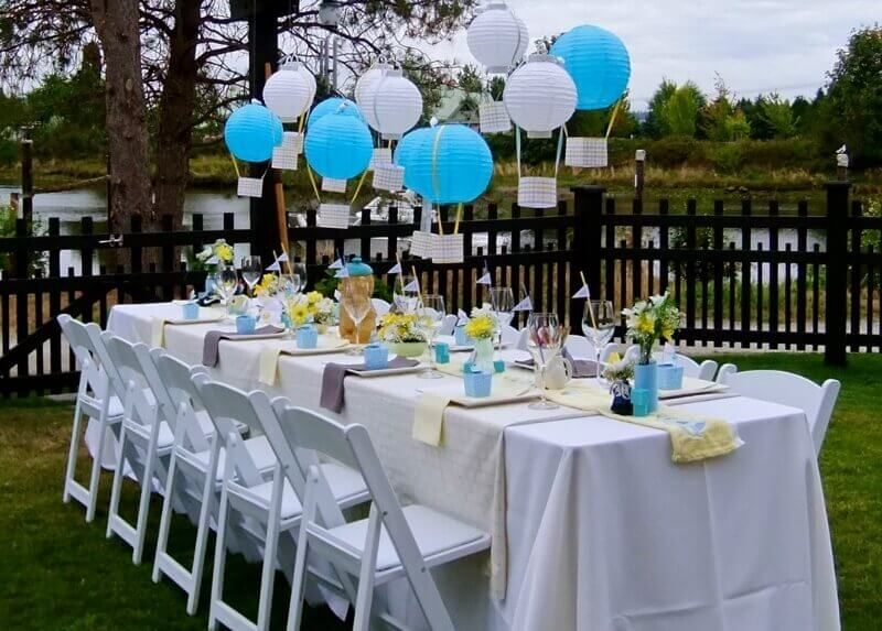 Backyard Barbeque | Backyard baby shower decorations, Outdoor baby .
