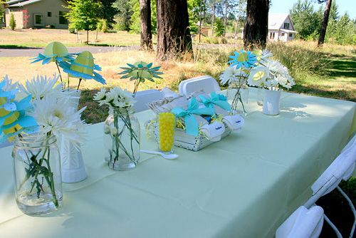 Outdoor Baby Shower Decorations | Outdoor baby shower decorations .