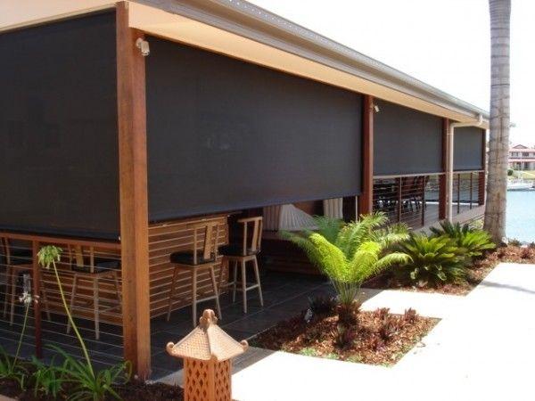 outdoor solar roller shades … … | Patio shade, Exterior blinds .