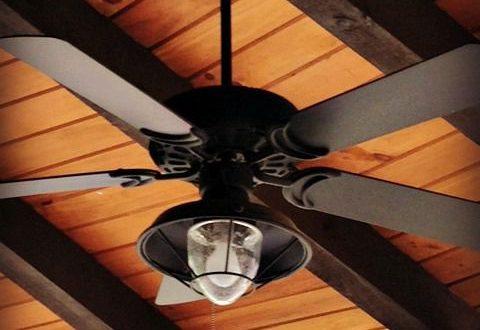 Dan's Ceiling Fans - A rich and rustic ceiling fan/light .