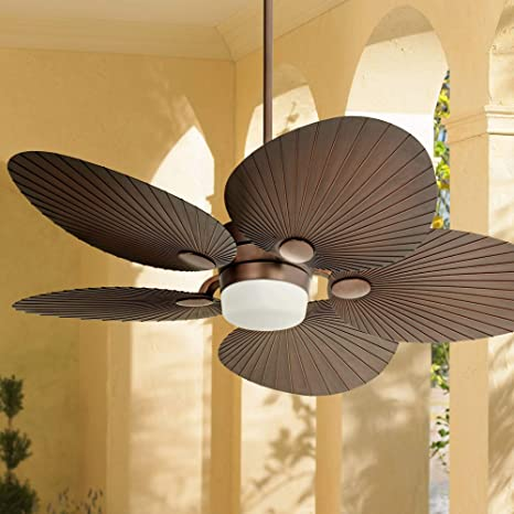 """52"""" Casa Breeze Tropical Outdoor Ceiling Fan with Light LED Remote ."""