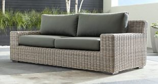 Cayman Outdoor Sofa with Graphite Sunbrella Cushions + Reviews .