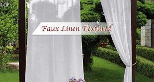Amazon.com: NICETOWN Sheer Outdoor Curtain Panels - Waterproof .