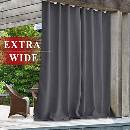 Amazon.com : StangH Waterproof Outdoor Curtains for Porch Extra .