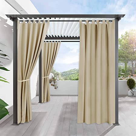 Amazon.com: RYB HOME Outdoor Curtains for Patio - Waterproof .