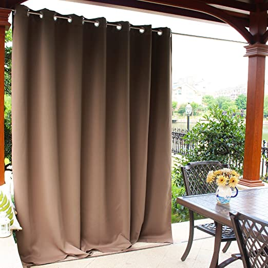 Amazon.com: NICETOWN Outdoor Divider Curtain Waterproof for Patio .