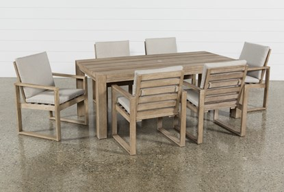 Malaga Outdoor 7 Piece Dining Set | Living Spac