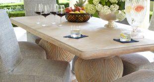 Double Pedestal Indoor/Outdoor Dining Tab