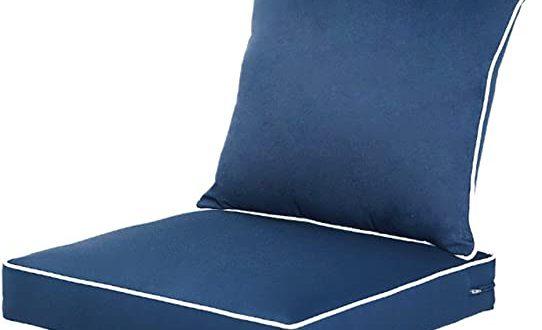 Amazon.com : QILLOWAY Outdoor/Indoor Deep Seat Chair Cushions Set .