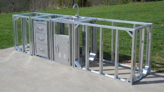 Outdoor Kitchen Kit Straight Modular | Modular outdoor kitchens .