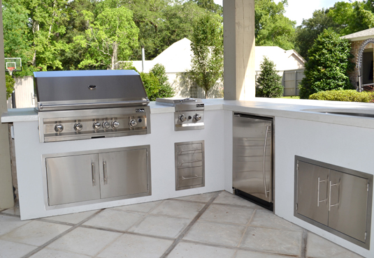 "The Northshore ""L"" Shaped Outdoor Kitchen K"