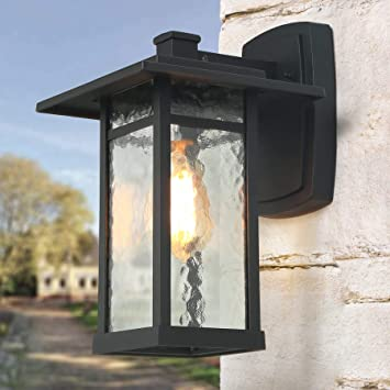 LOG BARN Exterior Light Fixtures Black Large Outdoor Wall Lantern .