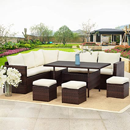 Amazon.com: Wisteria Lane Patio Furniture Set,7 PCS Outdoor .
