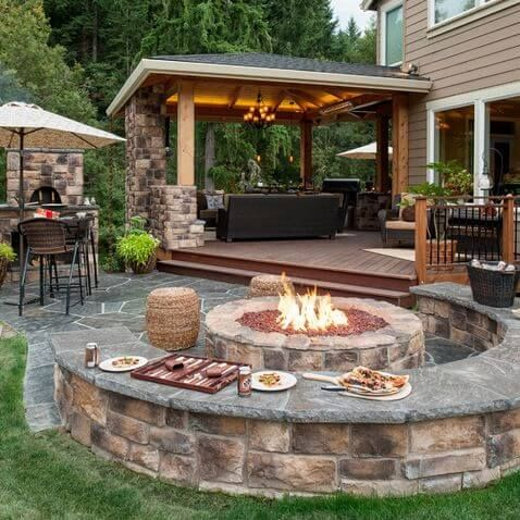 30 Patio Design Ideas for Your Backyard | Backyard seating, Patio .