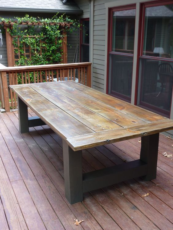 How To Build A Outdoor Dining Table Building an outdoor dining .