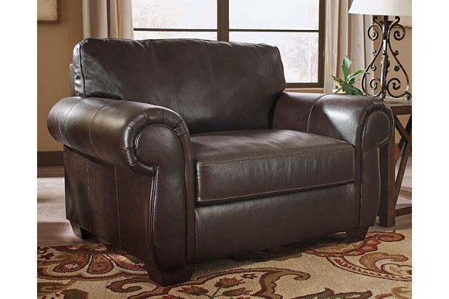 Lorton Oversized Chair by Ashley HomeStore, Brown, Leather (100 .