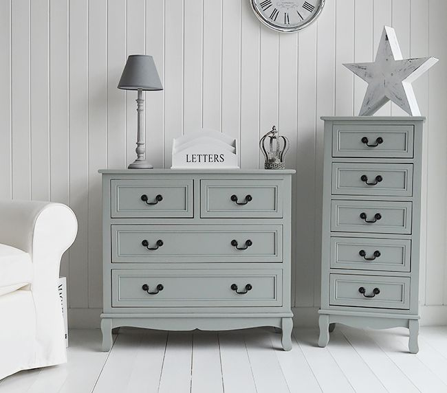 20 Decorating Tricks for Your Bedroom | Grey painted furniture .