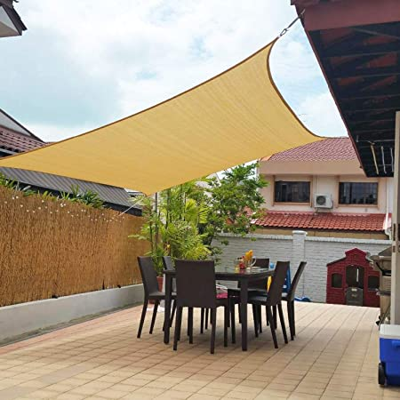 Amazon.com : Artpuch 10' x 13' Shade Sails 185GSM Rectangle Shade .
