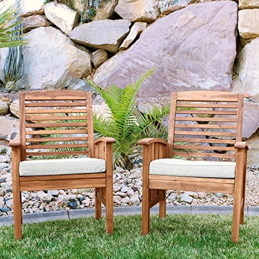 Amazon.com : Walker Edison Furniture Company Solid Acacia Wood .
