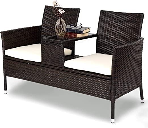 Amazon.com: Tangkula Outdoor Furniture Set Patio Conversation Set .