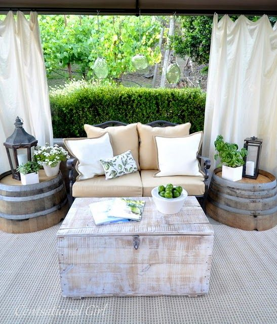 Our Patio Cabana | Outdoor living space, Patio decor, Outdoor dec