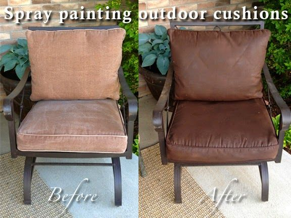 Spray painting outdoor cushions | Outdoor cushions, Patio .