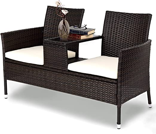 Amazon.com: Tangkula Outdoor Furniture Set Patio Conversation Set .