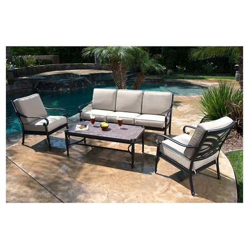 Kent 4-Piece Metal Patio Conversation Furniture Set : Targ