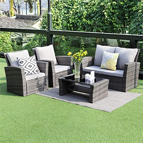Wicker 5 Piece Patio Furniture Sets: Amazon.c