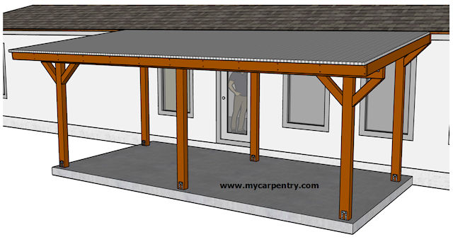 Building a Patio Cover - Plans for building an almost-free .