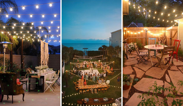 26 Breathtaking Yard and Patio String lighting Ideas Will .