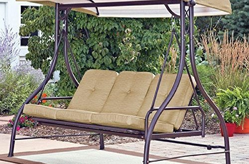 Amazon.com : Mainstay 3 Seat Porch & Patio Swing (3-Porch Swing .