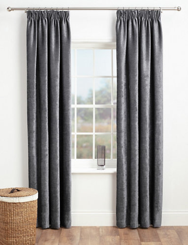 Chenille Pencil Pleat Curtains | Curtains - ready-made | Marks and .