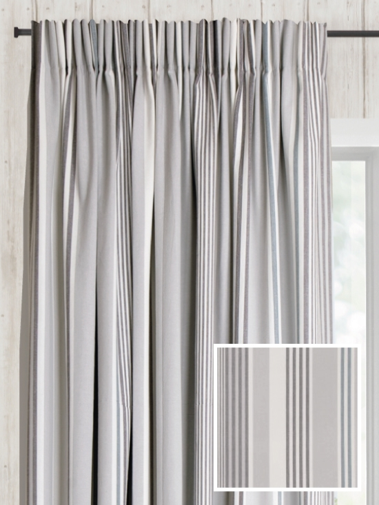 Ready Made Pencil Pleat Curtains In Amarillo - Loom and La