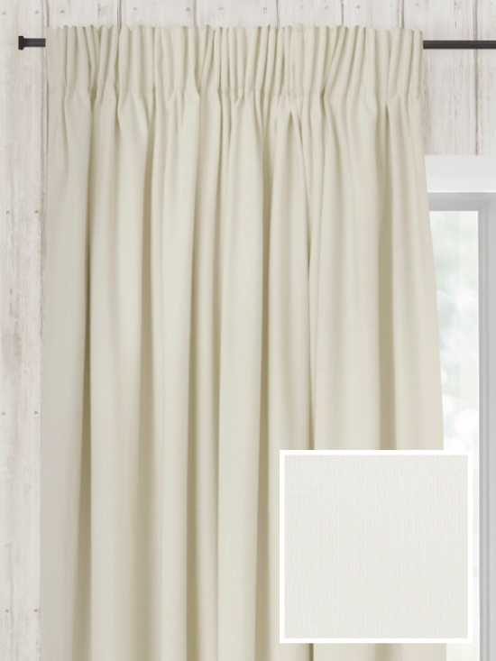 Ready Made Pencil Pleat Curtains In Lily - Loom and La