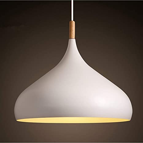 Comtemporary Pendant Light 60W White Lampshade Industrial Metal .