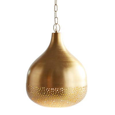 Gold Perforated Bell Pendant Lamp | Pier