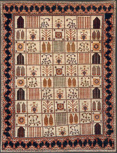 Persian Garden Carpet Oriental Rug #T3325 | Persian rug designs .