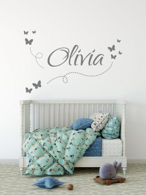 Personalised Name Wall Stickers - A beautiful kids name wall .