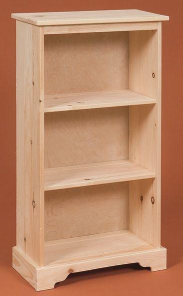 Small Pine Bookcase | Pine bookcase, Wood bookshelves, Small bookca