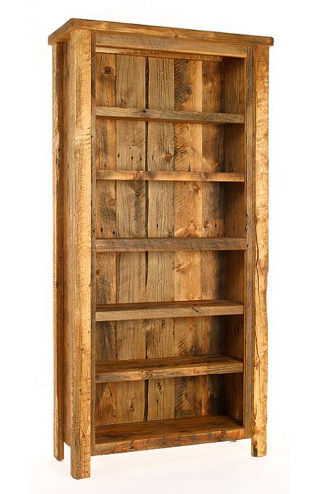 Weathered Pine Bookcase - Lodge Cra
