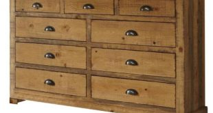 Progressive Furniture Willow 9-Drawer Distressed Pine Dresser P608 .