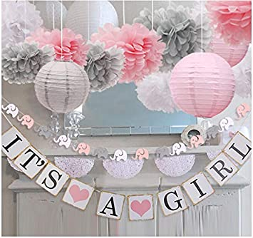 Amazon.com: luckylibra Baby Girl Baby Shower Decorations, It is a .
