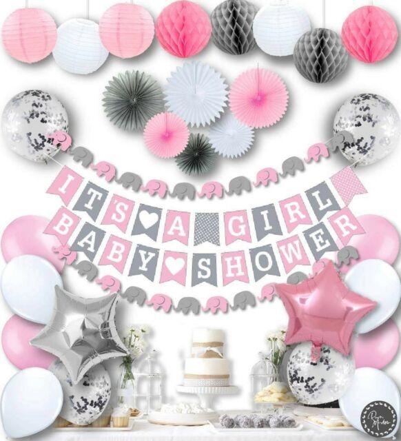 RainMeadow Premium Baby Shower Decorations for Girls Kit It's A .